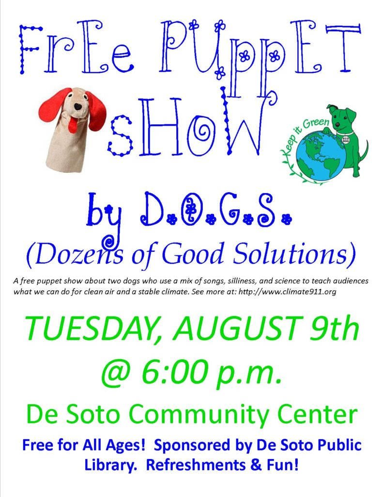 DOGS puppet show flier Letter Sized